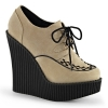 CREEPER-302 	Cream Vegan Suede